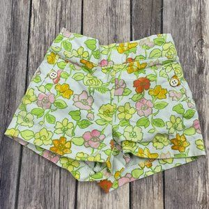 Janie and Jack Floral Shorts Size 6-12 Months